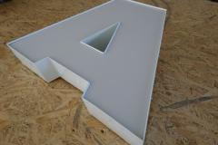 Litery / znaki 3D z aluminium